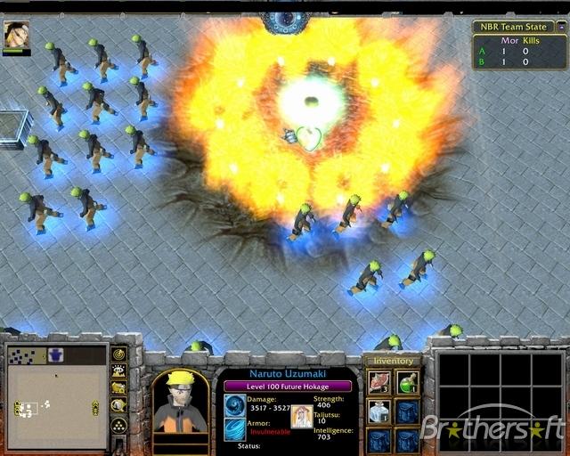 скачать карту арена наруто для Warcraft 3 Frozen Throne - фото 5