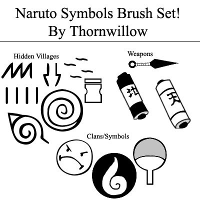 Naruto Symbols Brush Set by Thornwillow