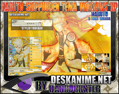 Naruto 9 Tails Chakra Windows XP Theme