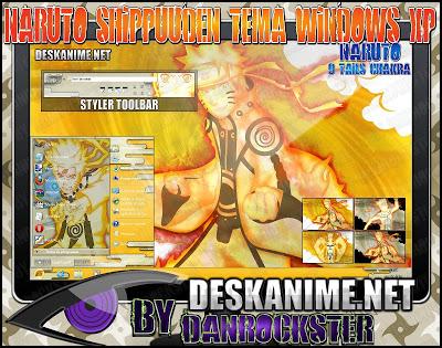 Naruto 9 Tails Chakra Windows XP Theme